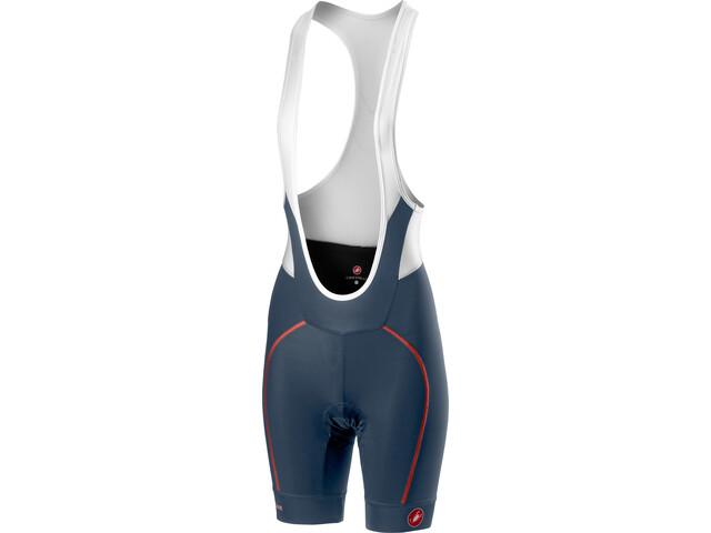 Castelli Velocissima Bib Shorts Women dark/steel blue/salmon